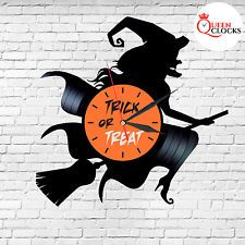 Boo Boutique Witch Gift Vinyl Record Wall Clock Halloween Decor Prop Scary in US