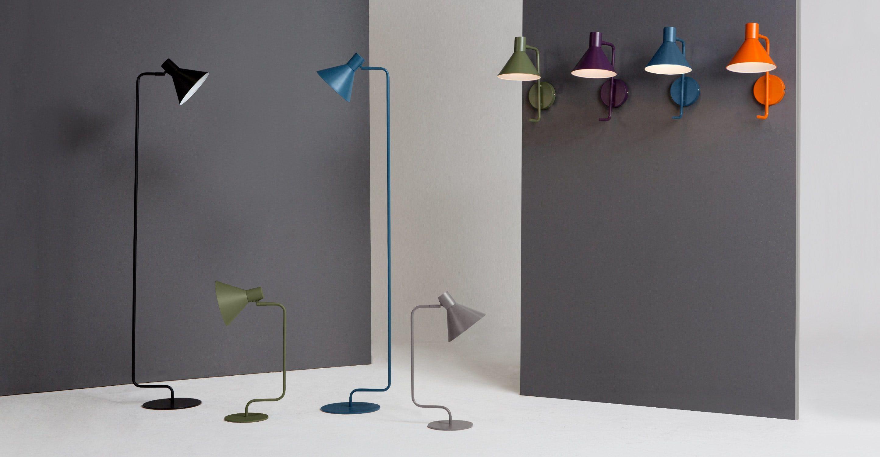Truman Stehlampe, mattes Memphisblau | Design leuchten, Modernes ...