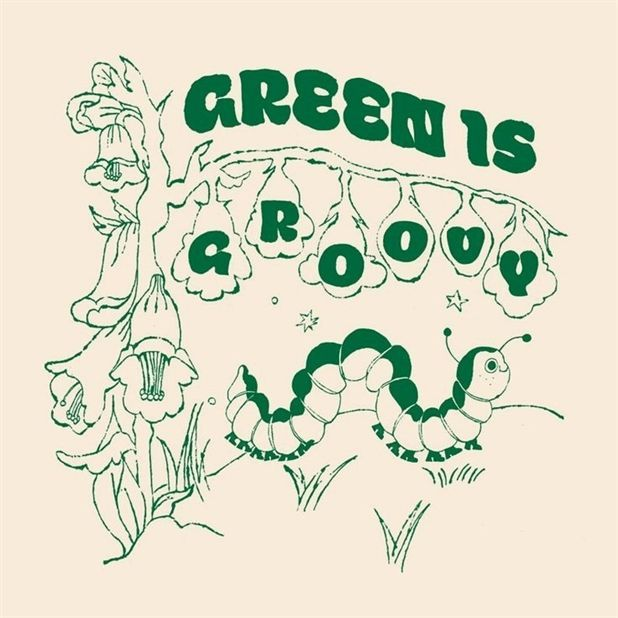 21cmX21cm (SMALL) Green is groovy illustration art