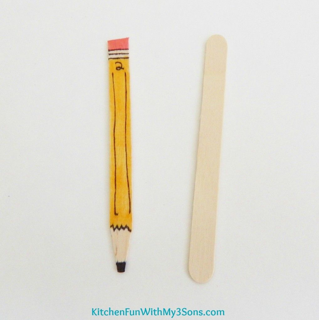 Back to School Popsicle Stick Pencil Craft for Teachers - Kitchen ...