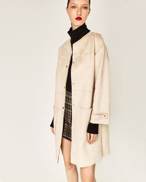 Image 5 Of Faux Suede Coat From Zara With Images Suede