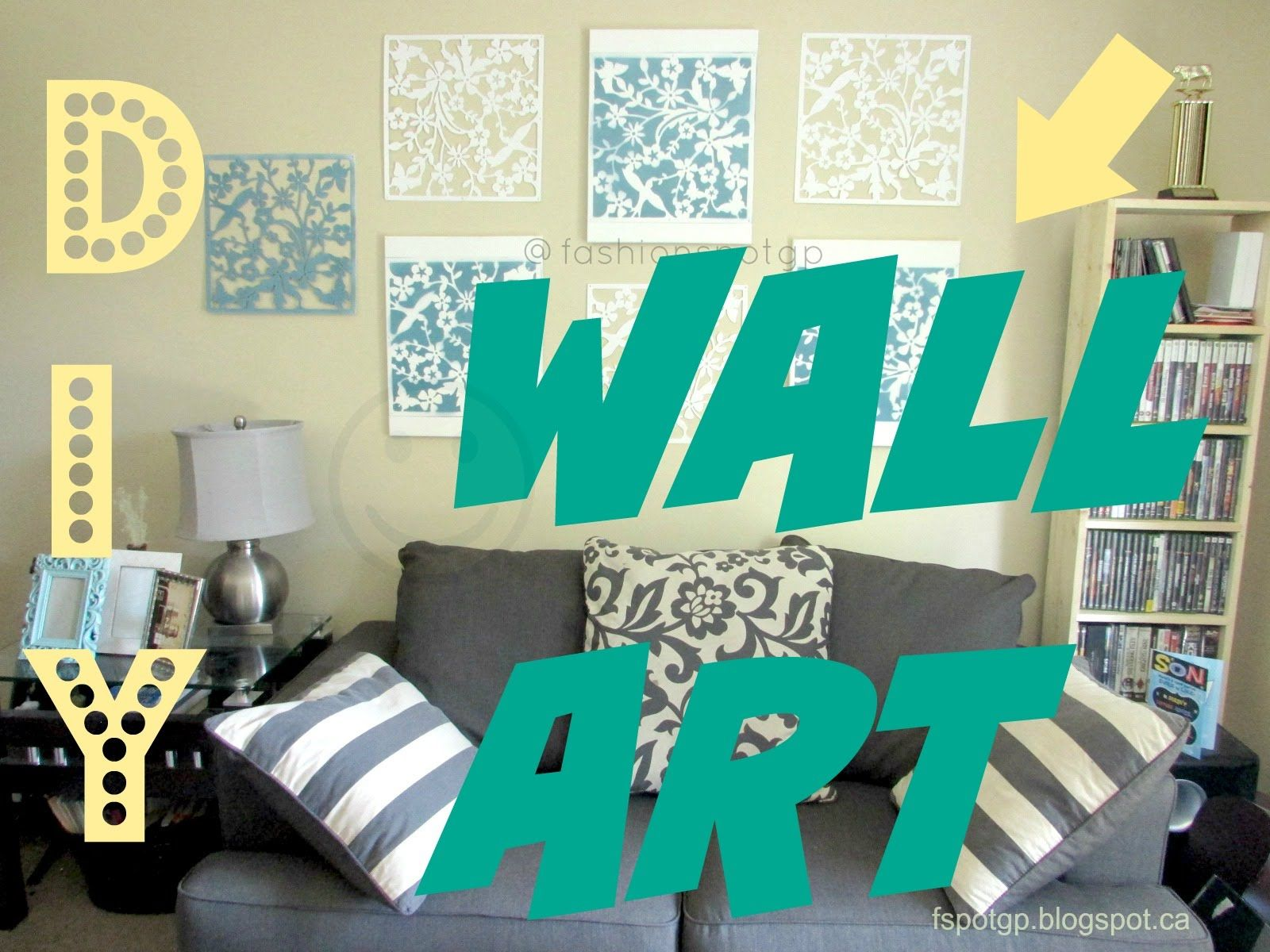 DIY Living Room Decor Wall Art Idea