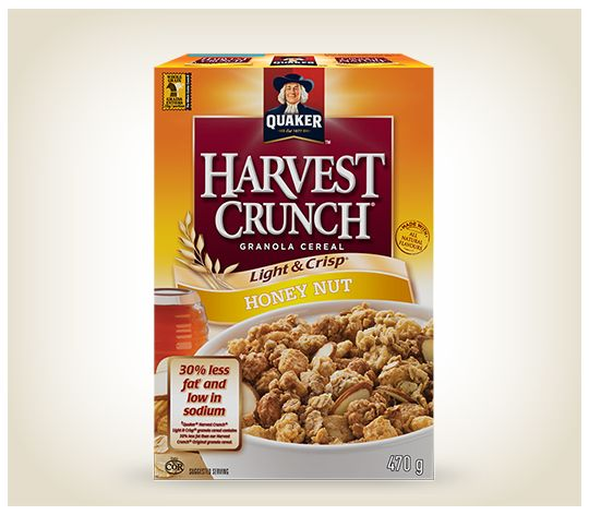 Quaker® Harvest Crunch® Light & Crisp® Honey & Nut Cereal
