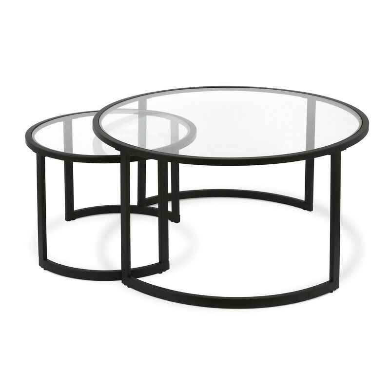 Whitacre Extendable Sled 2 Nesting Tables Coffee Table Set in 2020 | Bronze coffee table, Coffee ...