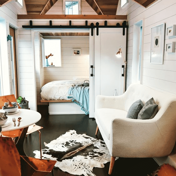 5. PLAY COLOR FOR TINY HOUSE BEDROOM DESIGN IDEAS #tinyhouseliving