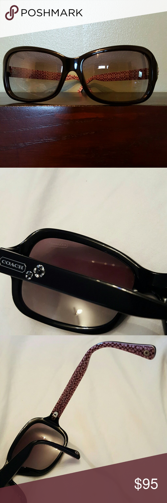 Coach Clara sunglasses Like new Coach sunglasses  Black gradient lens model HC8016 5002/11 Coach Accessories Sunglasses