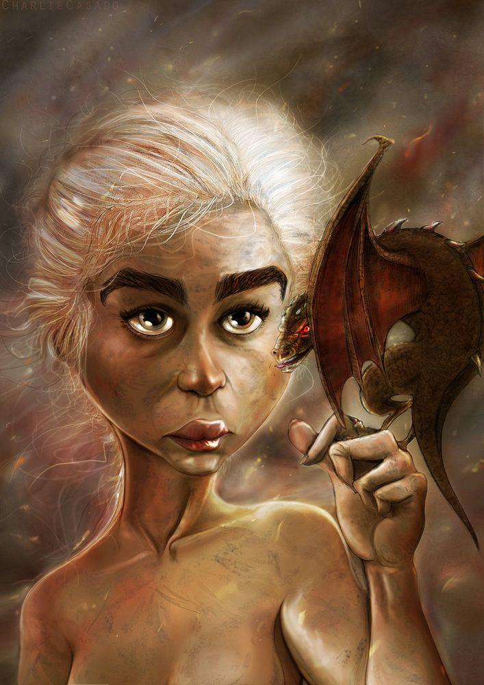 Daenerys Targaryen por CharlieCasado - Series TV | Dibujando.net