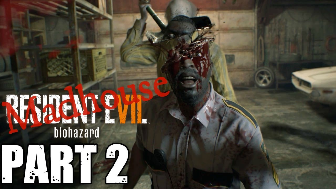 Resident Evil 7 Biohazard Defeating Jack Baker Garage Boss