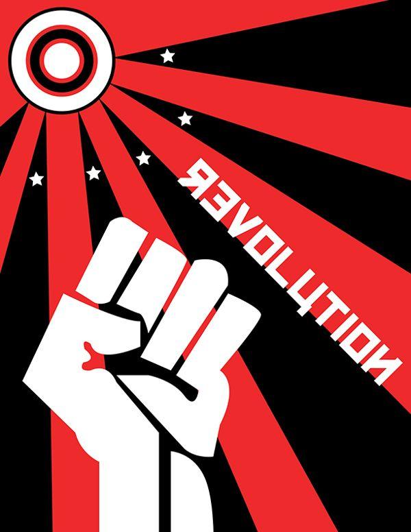 Russian Revolution Poster by Natalie Topolski, via Behance