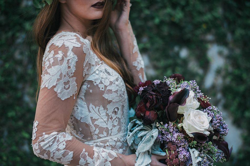 Deep Color Wedding Bouquet Dark Romance Designer Aatr Weddings