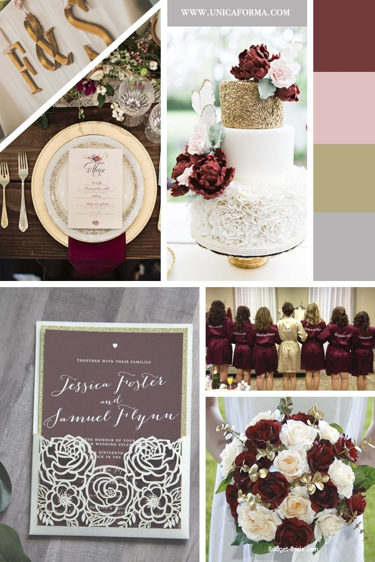 Burgundy And Gold Wedding Burgundy Blush And Gold Wedding