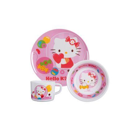 #Frühstücksset Hello Kitty 3tlg. #Weihnachten #Geschenkideen #Für Kinder