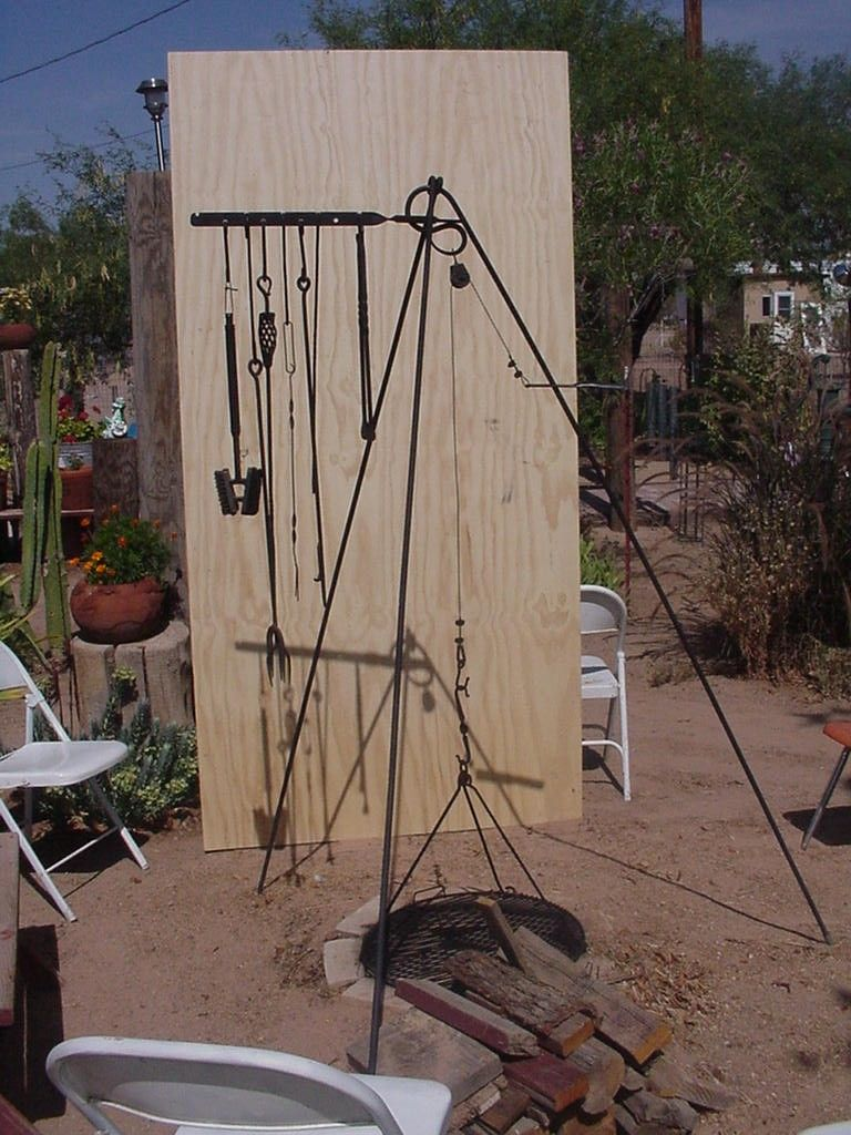 pit tripod complete with tools my design 4x8 ft 84637