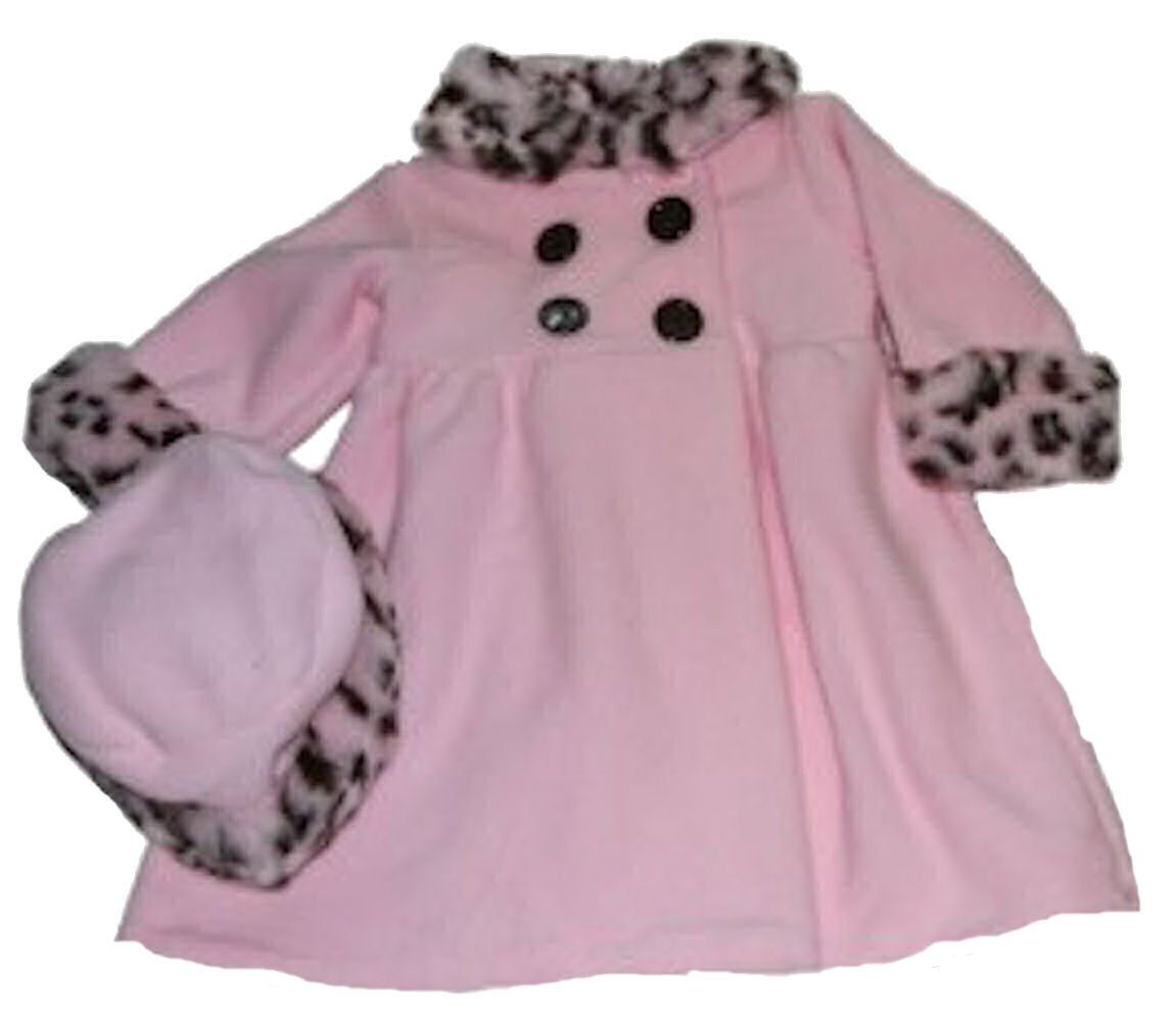 7f4e63bbe Good Lad Baby-girls Pink Coat and Hat with Faux Fur Trim. Pink Full ...