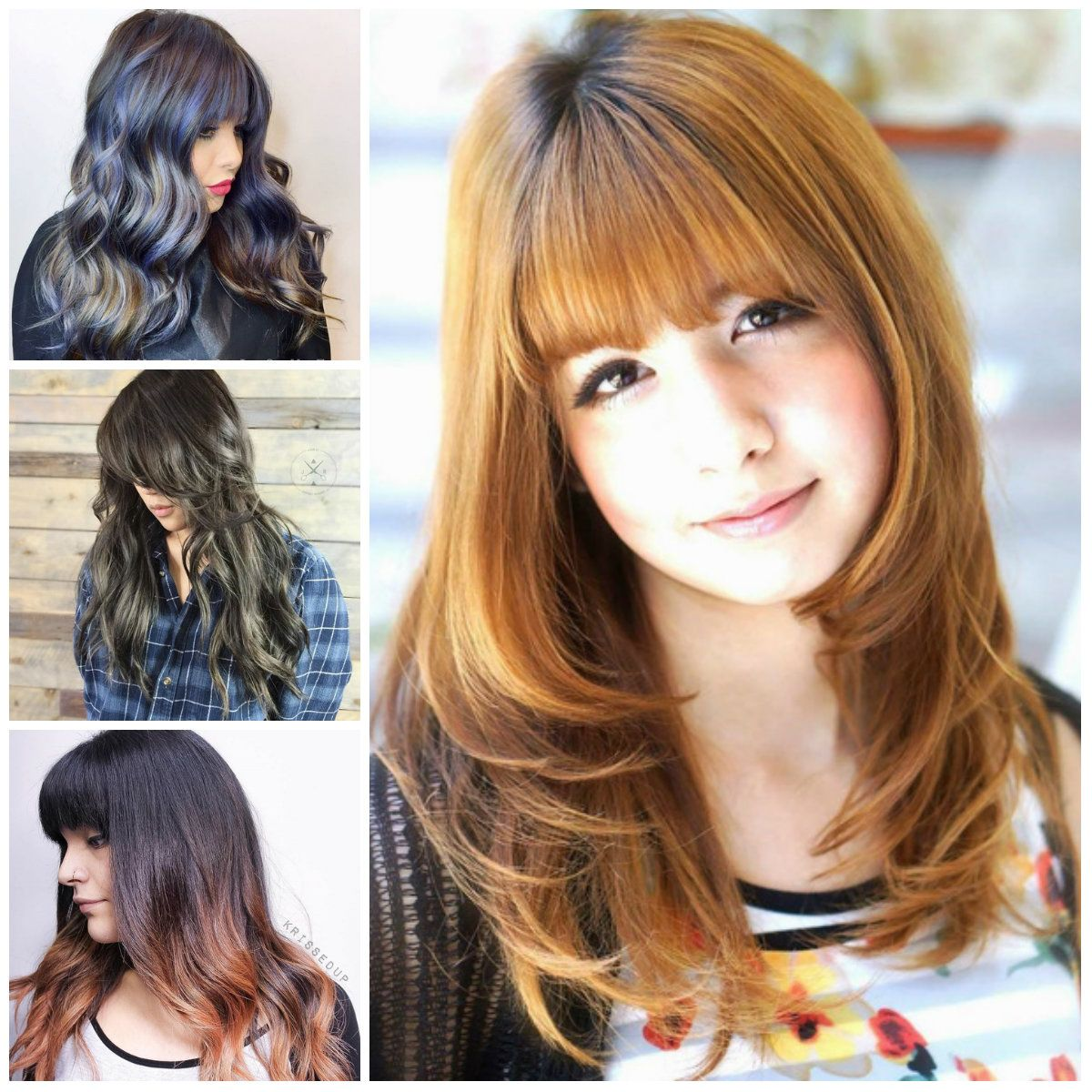 Lange Frisuren mit Pony 2018 | Neue Frisuren 2018 | Pinterest ...