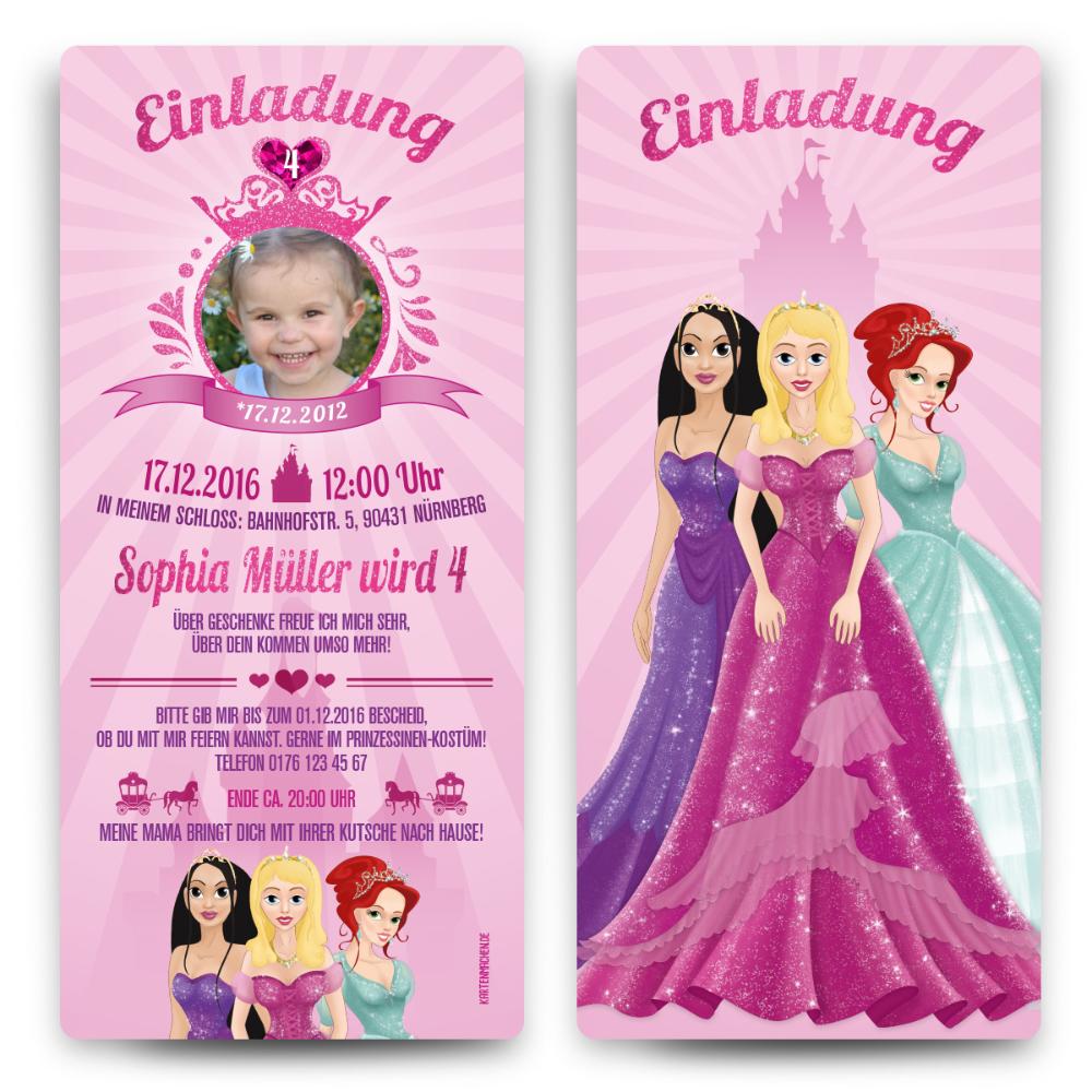 Details Zu Einladungskarten Kindergeburtstag Prinzessin Geburtstagseinladungen E… – Farbkombination für Einladungskarten