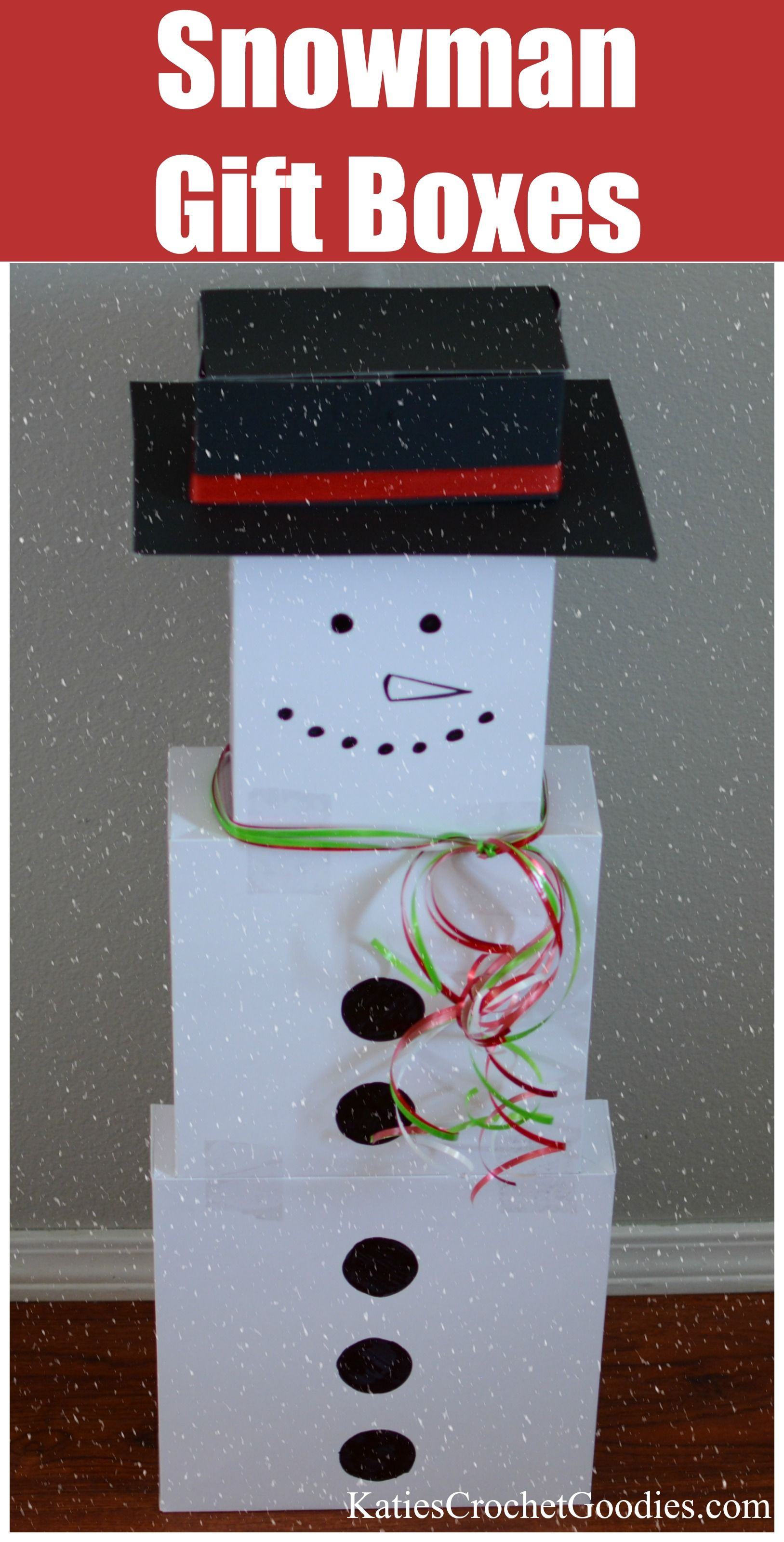 Snowman Gift Boxes Winter Activities For Kids Diy Snowman Gifts