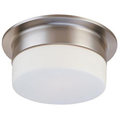 Sonneman flange 9 satin nickel ceiling light fixture aloadofball Image collections
