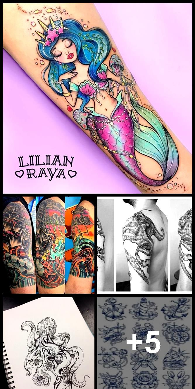 Kawaii octopus tattoo lilian stripe,  Kawaii octopus tattoo lilian stripe,