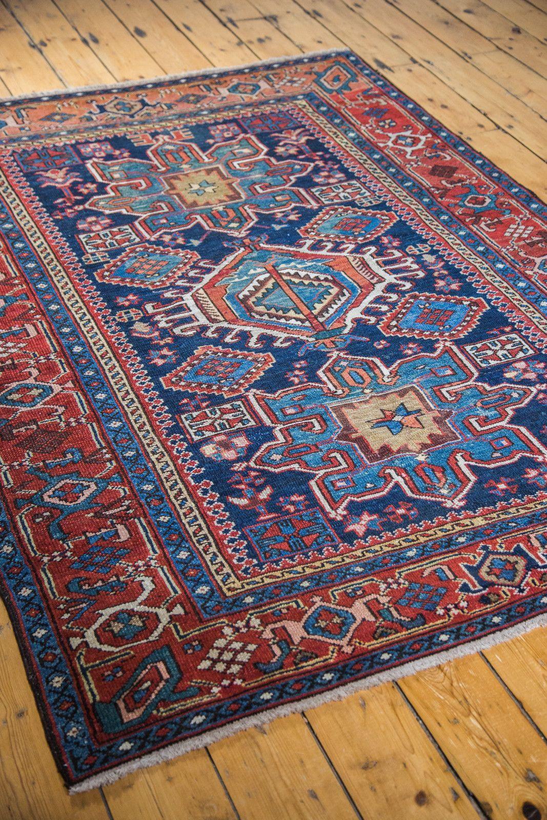 5x6 Antique Karaja Square Rug Rugs Square Rugs Carpet Handmade