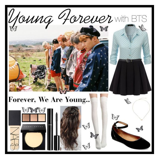 """Young Forever With BTS"" by belynlove1d ❤ liked on Polyvore featuring LE3NO, Polo Ralph Lauren, Steve Madden, NARS Cosmetics, Chanel, Smashbox, Forever 21, Kendra Scott and Visionnaire"