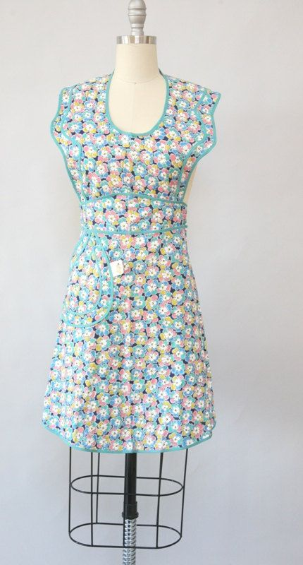 Vintage 1950\'s floral apron new with tags | Dressing Vintage ...