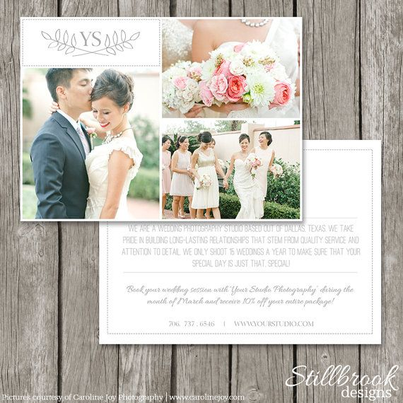 Photography Marketing Photo Card Template  Promo Flyer Postcard For