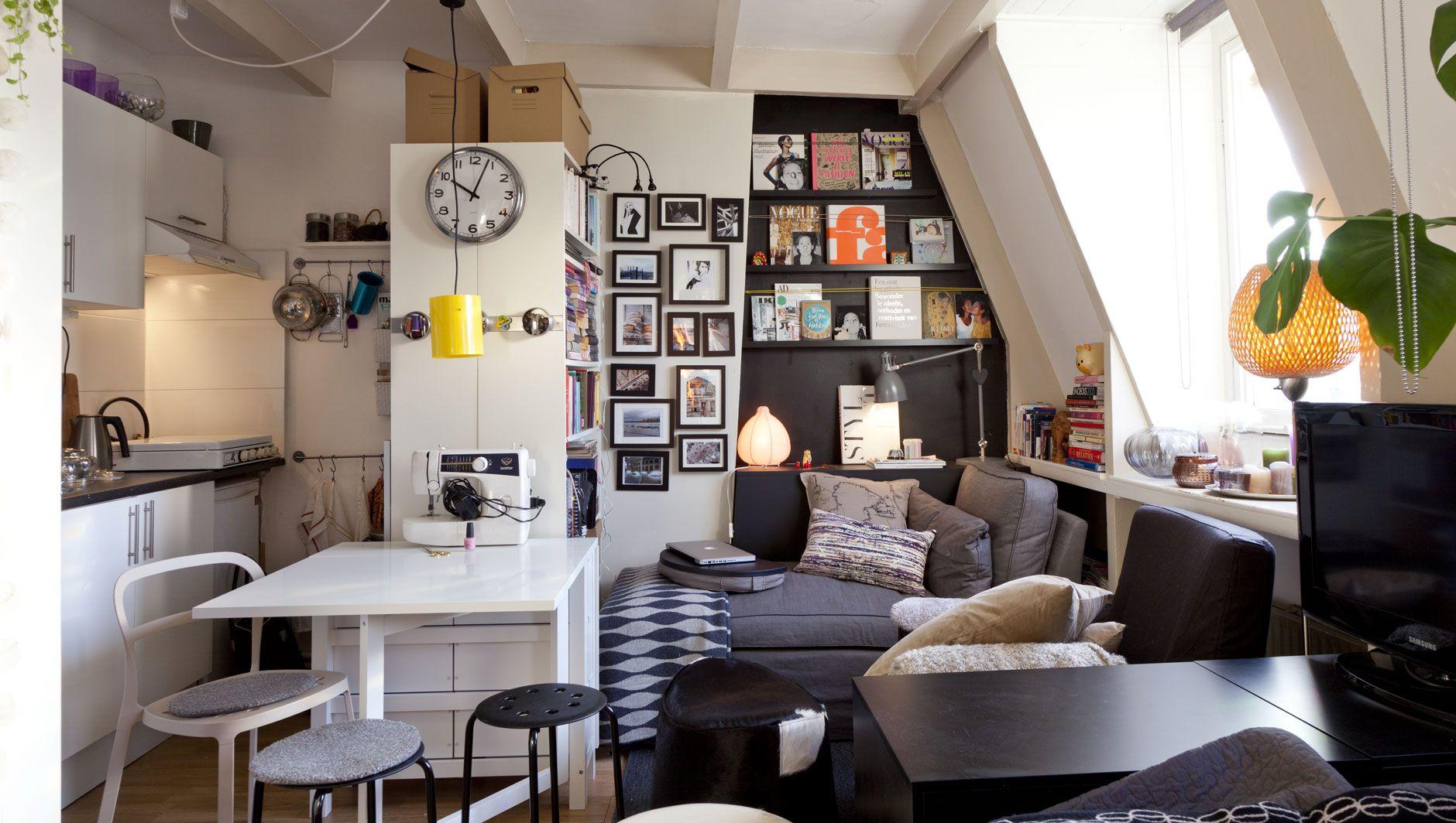 Un joli studio organisé pour vivre et travailler | Studio, Studio ...