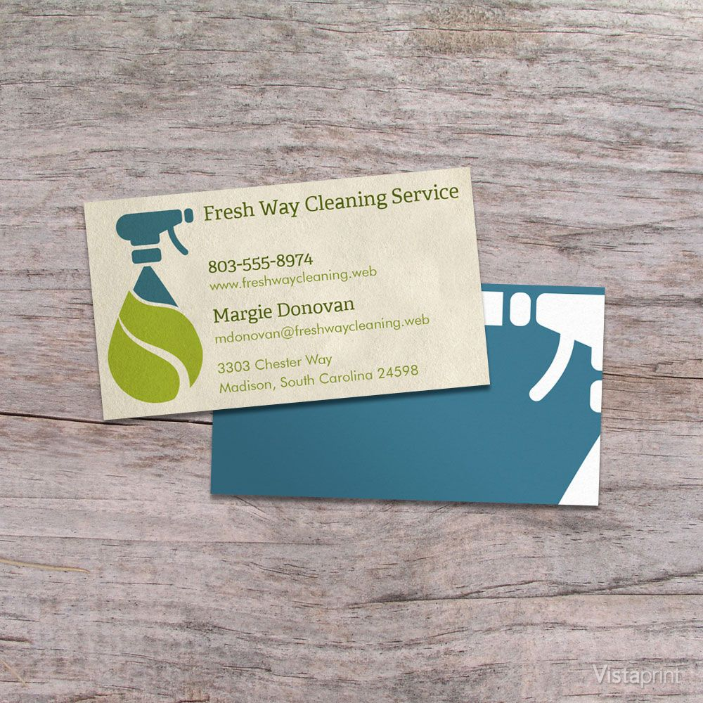 Light Brown Cleaner Business Cards Vistaprint