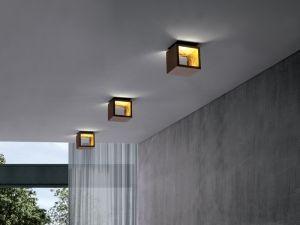 Cubo led foglia oro moderno basso consumo colorato applique