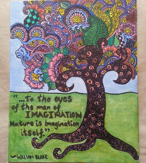 Tree of Imagination Henna Canvas by hennaLife on Etsy