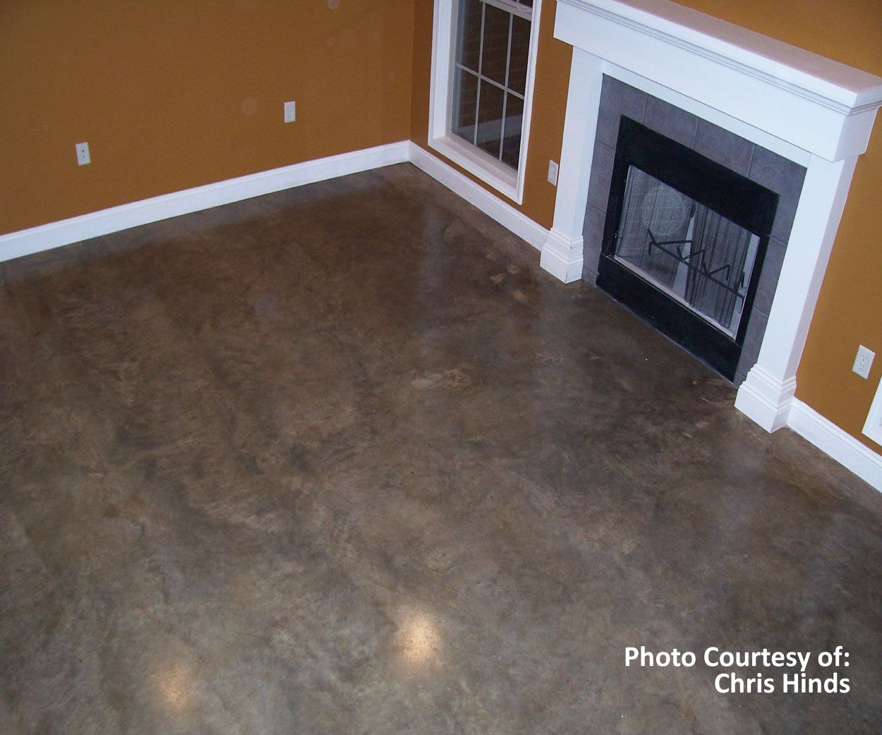 How To Carpet A Basement Floor: SoyCrete Concrete Stained Floor! Available At Www.greenpainter.com