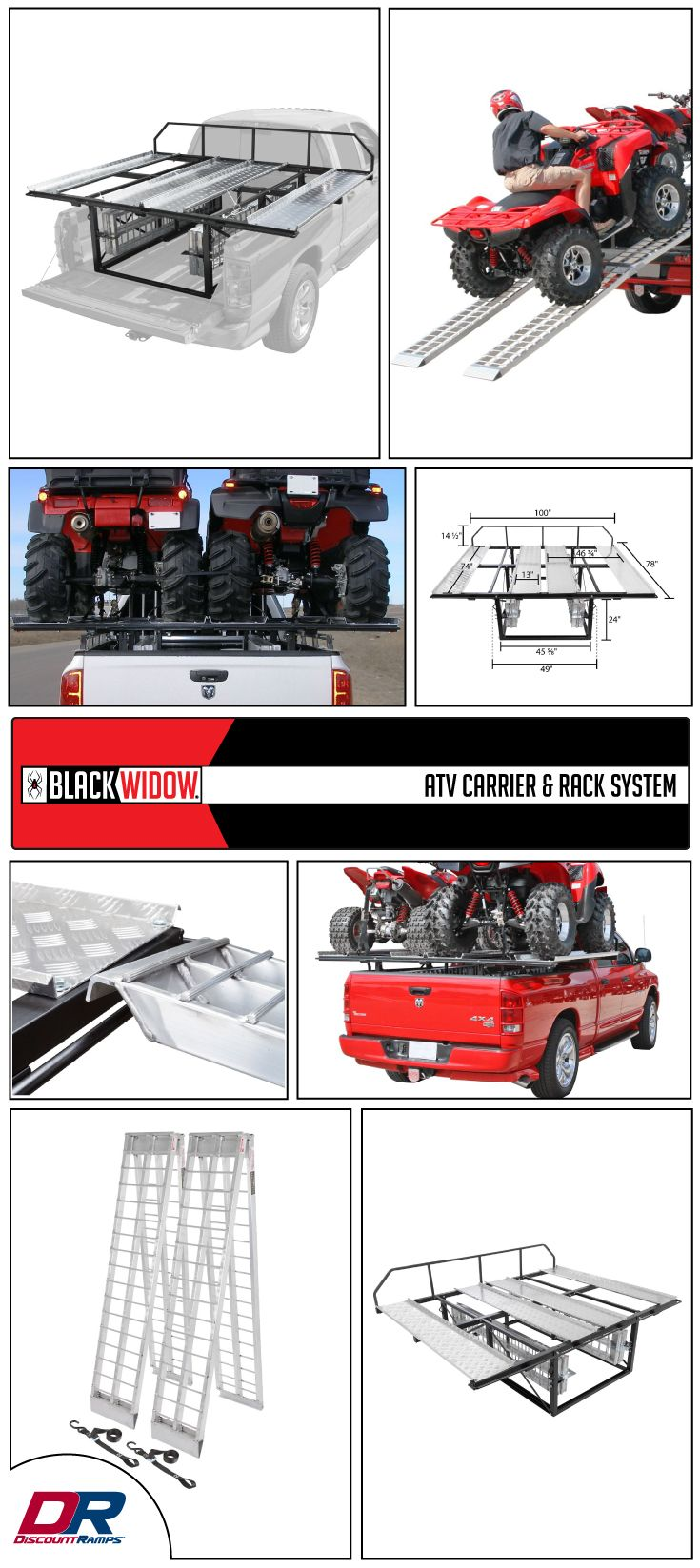 Black Widow ATV Carrier & Rack System 2,000 lbs
