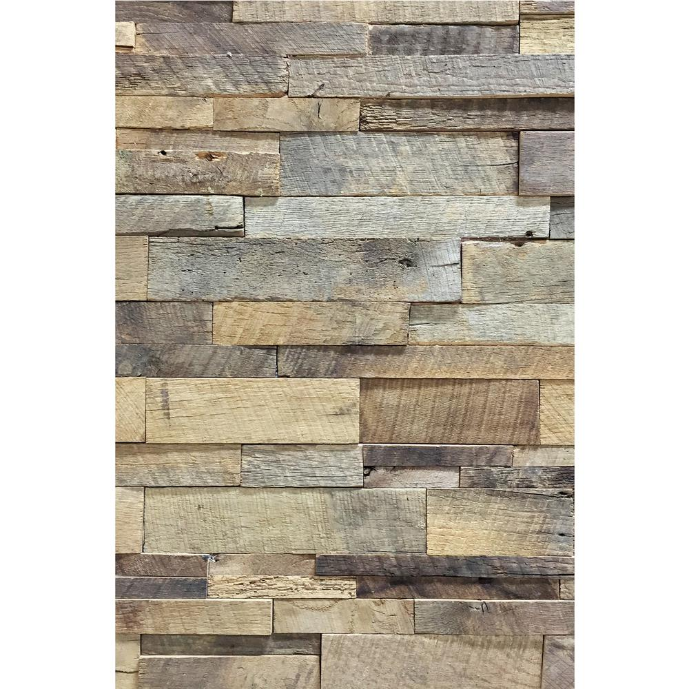 15sf Reclaimed Barn Wood Stacked Wall Panels In 2020 Barnwood Wall Wood Panel Walls Barn Wood