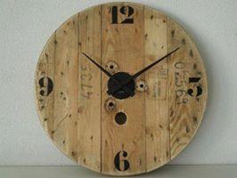 houten klok van hout
