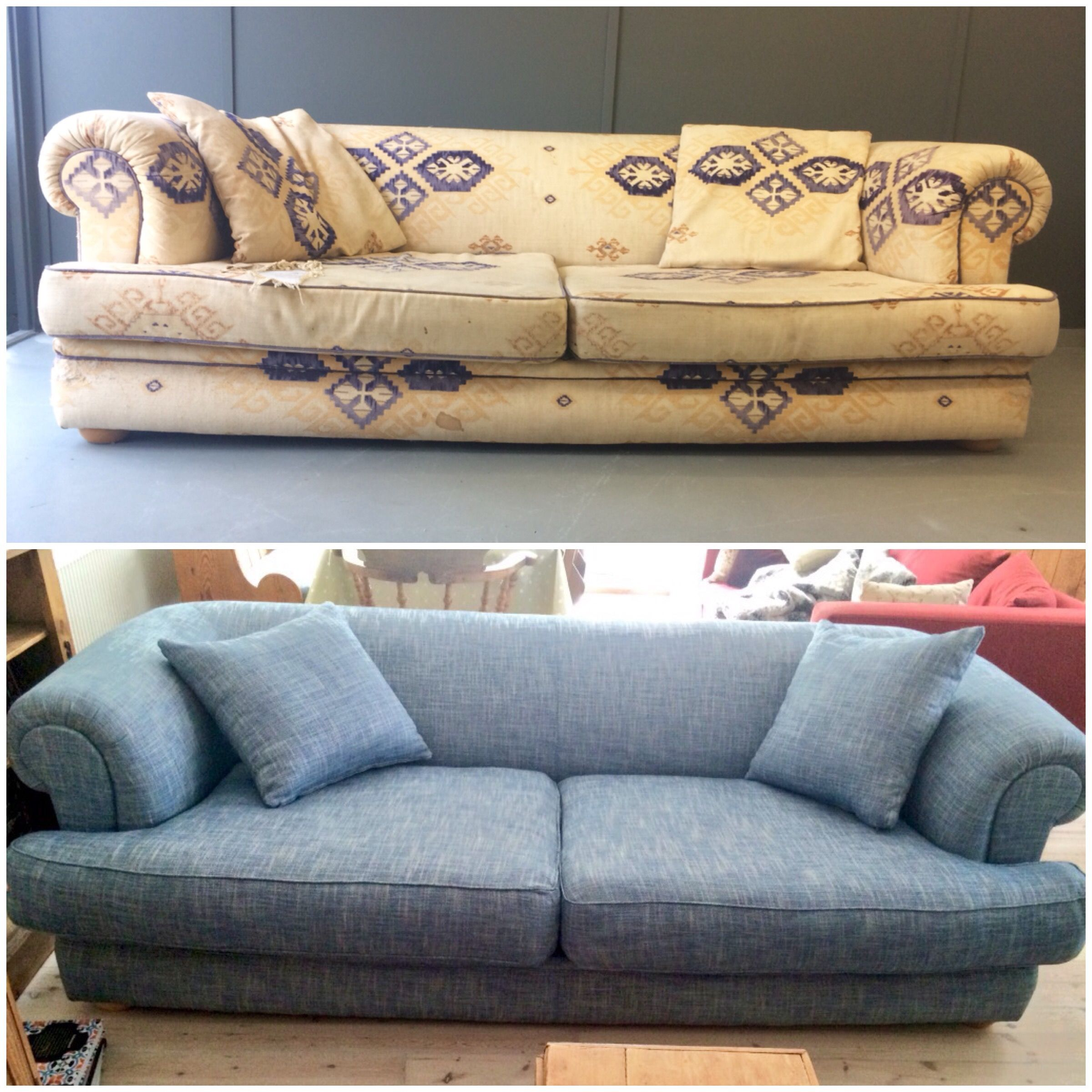 New fabric and new scatter cushions was all this sofa needed to