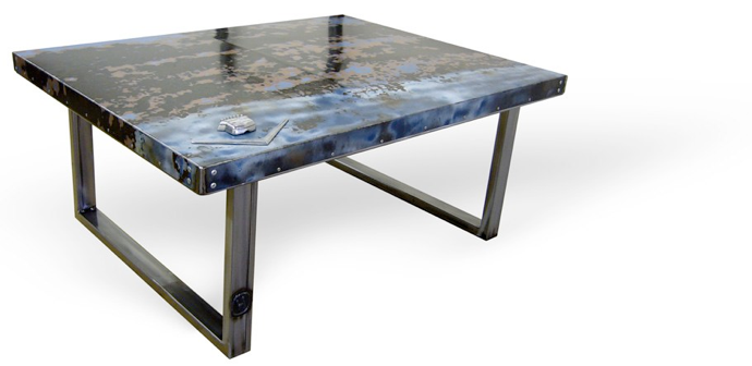 Coffee Table from Recycled Boot Lid