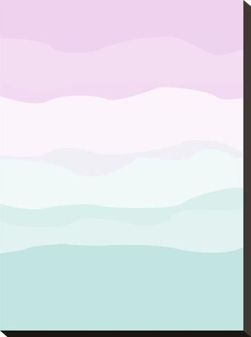 Stretched Canvas Print: Mint Lavender Abstract by Jetty Printables : 22x16in