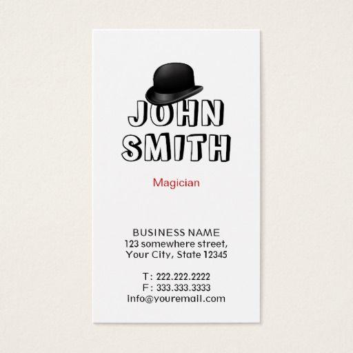 Cute Magic Hat Magician Business Card Zazzle Com The Magicians Business Cards Magic Hat