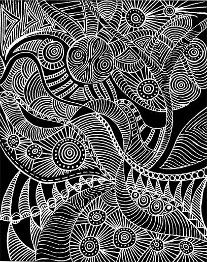 Doodle White Pen On Black Paper Black Paper Drawing Black Paper
