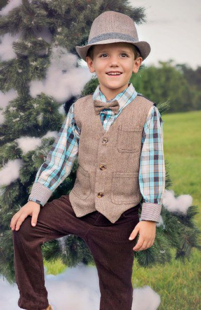 Andy++Evan+Tweed+Vest+ 3/6+Months+ONLY Christmas Fashion