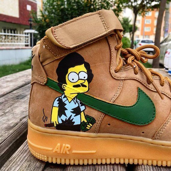 ecb1873714b02 Custom Nike Air Force one,pablo escobar,escobart,simpsons,bart ...