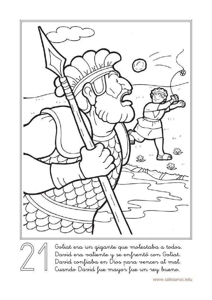 21 Goliat era un gigante que molestaba a todos. David era valiente y ...