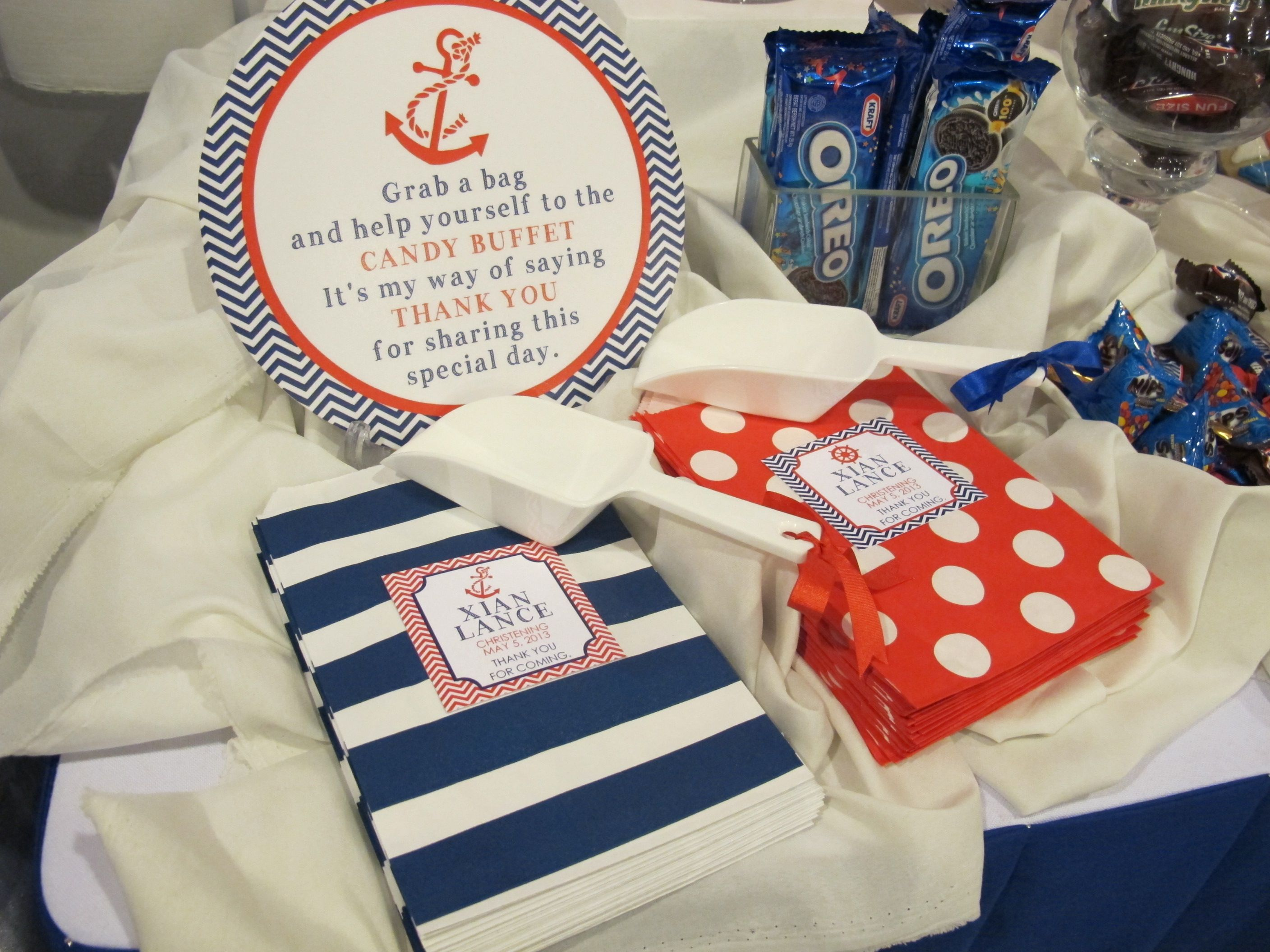 Nautical Candy Buffet Love The Bags Except We Need Y Colors