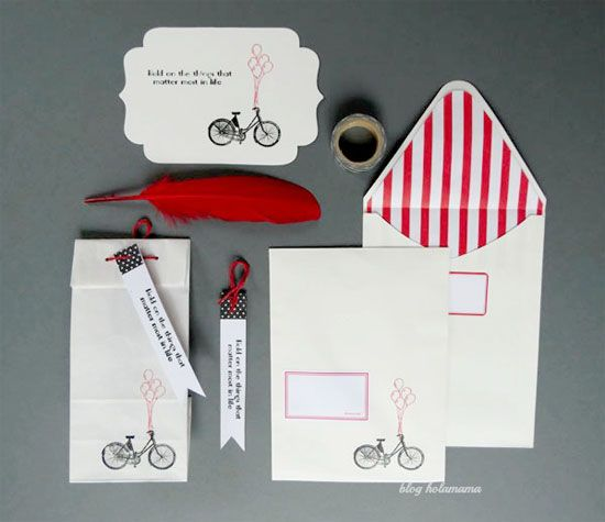 Handmade stationery set by Holamama