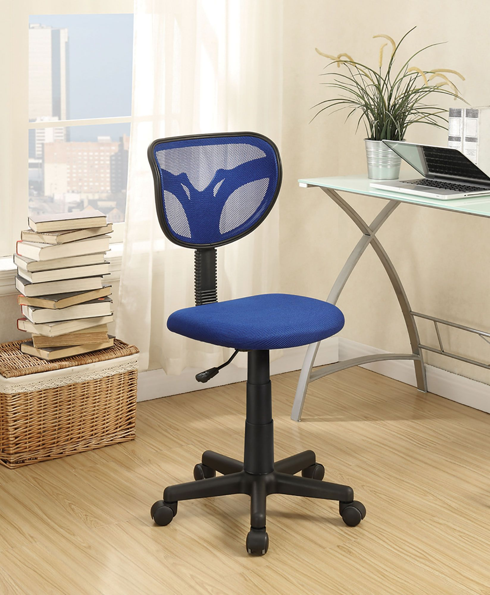 Coaster 800055B Blue Office Chair Adjustable Height On