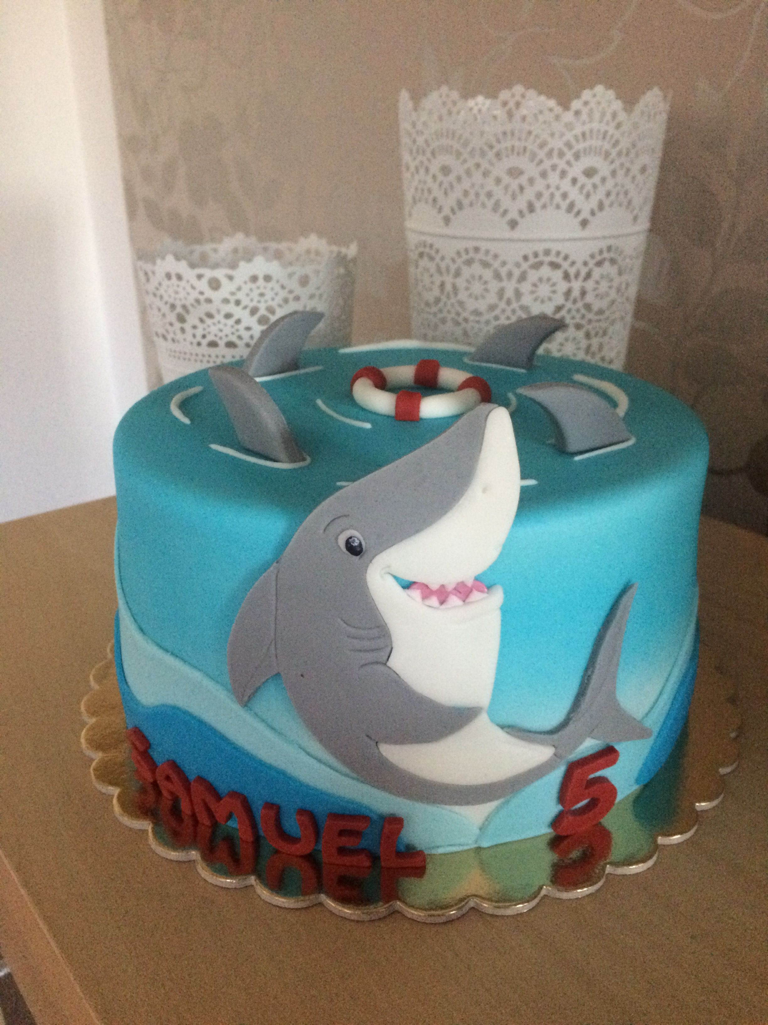 Shark Cake With Images Shark Birthday Cakes Shark Themed
