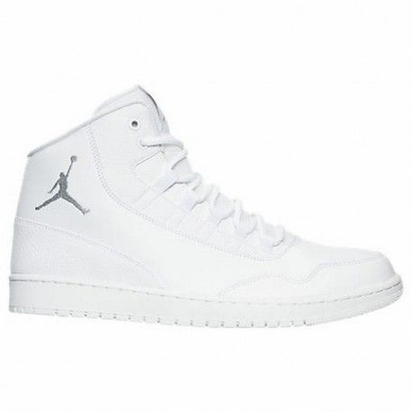 white air jordan shoes,Men's Air Jordan Executive Off-Court Shoes White/Wolf  Grey/White 820240 100