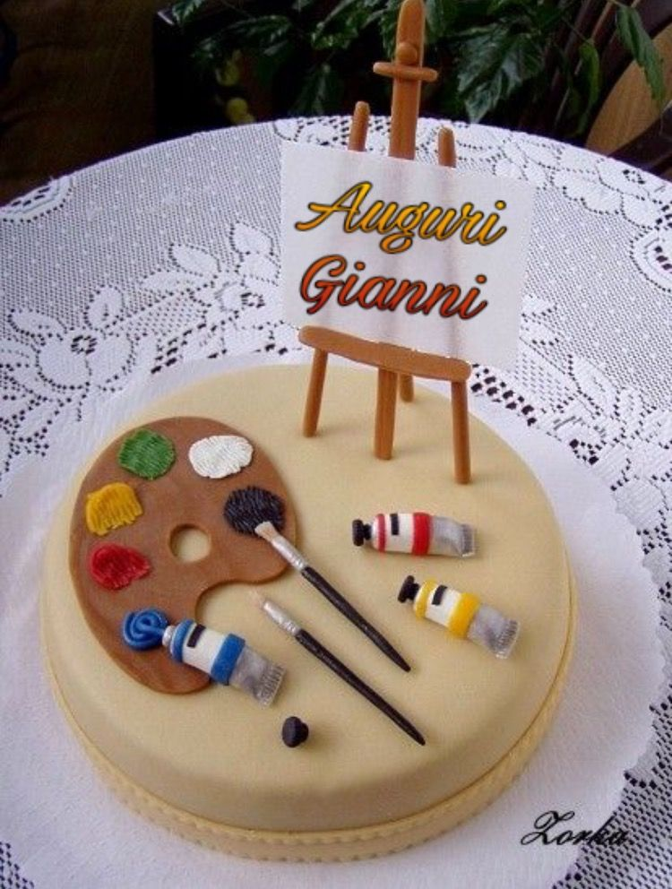Auguri Gianni Nel 2019 Torte Dipinte Disegni Per Torte E