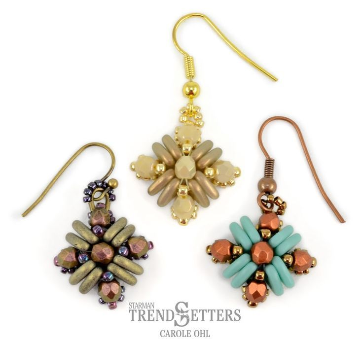 Free Beaded Earrings Pattern By Carole Ohl Featured In Bead Patterns Newsletter